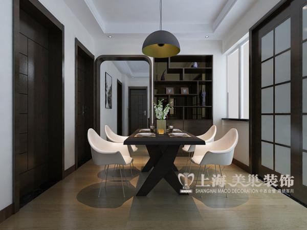 医专家属院装修三室两厅户型120平效果图赏析——餐厅布置