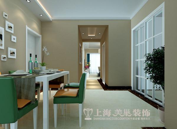 上海都市花园现代装修81平小三房案例效果图——走道布局