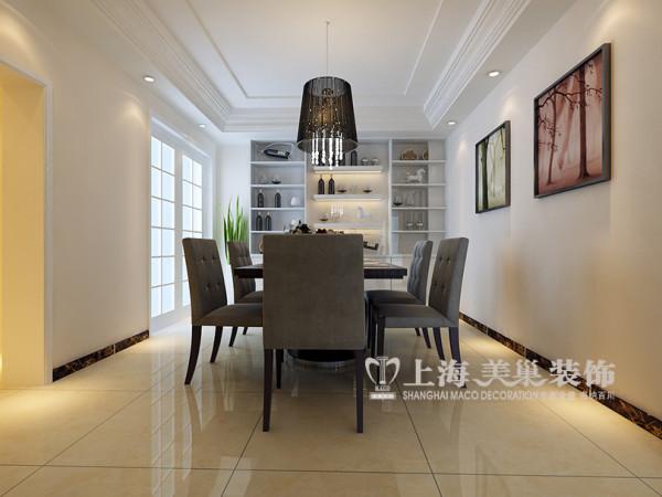 郑州省工会家属院装修效果图现代简约风格设计——餐厅样板间布局