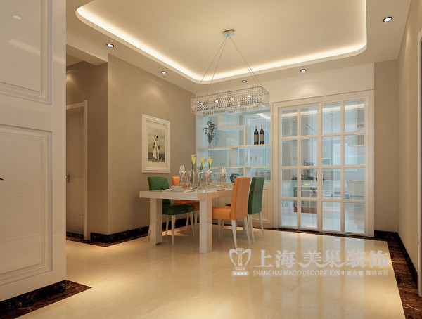 上东一品现代装修127平三室两厅效果图——餐厅效果图