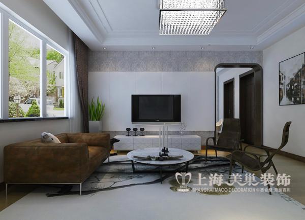 商丘市医专家属院装修效果图现代简约风格设计——客厅样板间电视背景墙设计