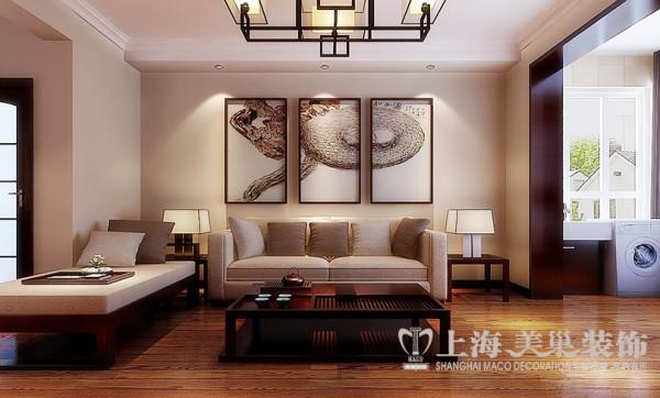 洛阳名仕嘉园装修效果图2室2厅户型案例100平居室设计效果图——客厅沙发背景墙