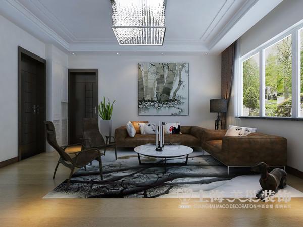 医专家属院装修现代简约风格效果图——沙发背景墙设计