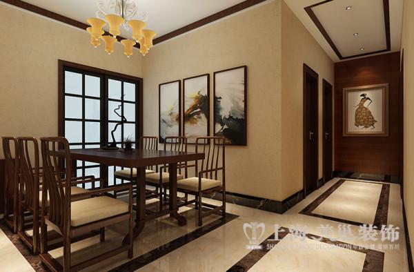 移动公司家属院装修162平居室三室两厅户型案例设计效果图——餐厅