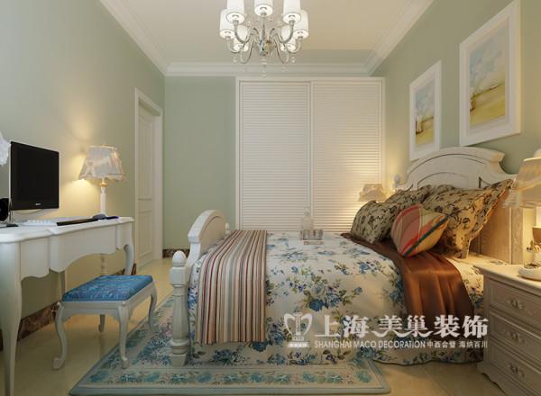 商丘新城国际兰溪谷装修样板间效果图——简欧风格设计卧室布局