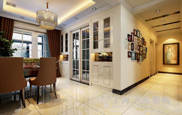 银河丹堤装修新中式140平三室两厅效果图案例——酒柜布局