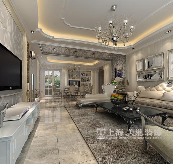 联盟新城装修样板间效果图简欧风格浪漫设计——客厅