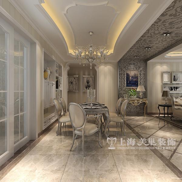 联盟新城装修设计效果图三室两厅简欧风格鉴赏——餐厅侧面