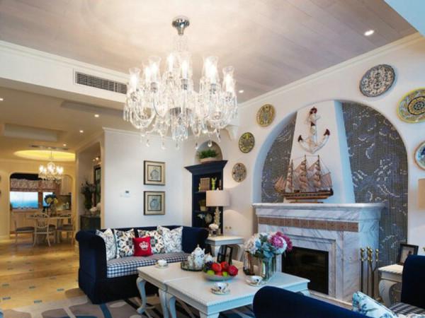 客厅采用了开敞式空间布局,带来舒适透气感。