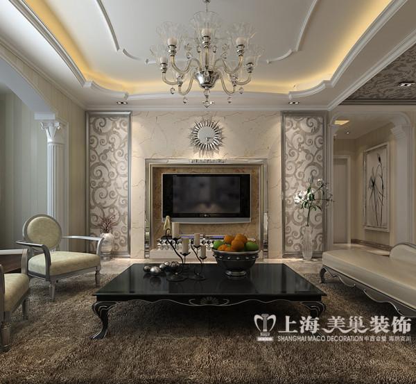 联盟新城装修样板间效果图——客厅电视背景墙设计