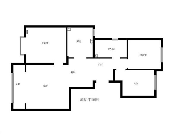 五里庄120平三居室中式风格设计图