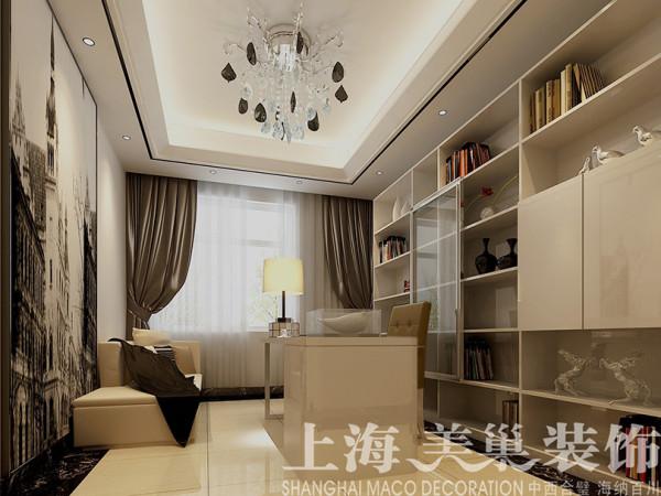 联盟新城180平装修四室两厅现代风格效果图--书房