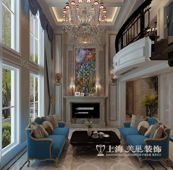蓝堡湾装修效果图赏析——简欧风格设计案例一楼电视墙设计