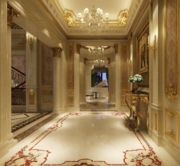 别墅设计 别墅装修 欧式风格 法式风格 润泽御府 别墅 玄关图片来自