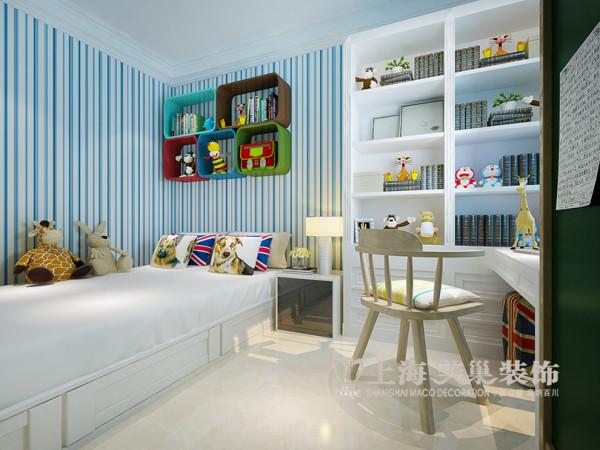郑州海马公园74平两室两厅装修法式效果图案例——儿童房布局