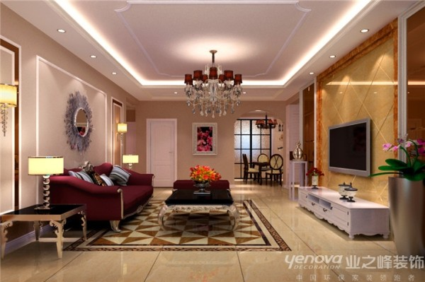 客厅阳台及飘窗出犄角可以增加内嵌式壁柜来弥补内凹与之墙面整体协调,使整个空间整体美观形成视觉上的统一。