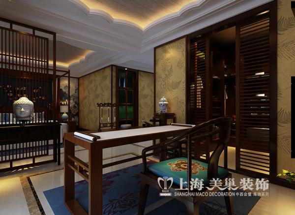 郑州永威翡翠城装修样板间效果图鉴赏东南亚风格设计案例——书房