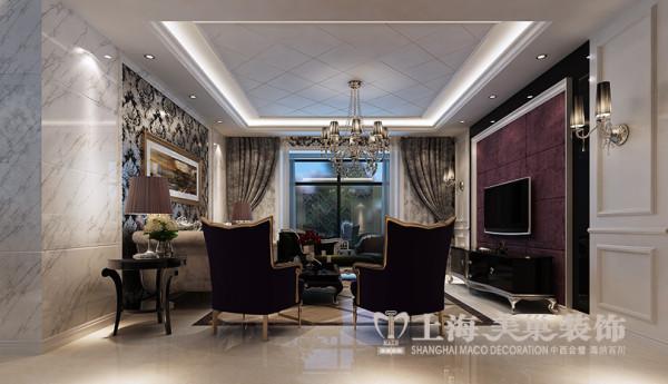 郑州永威东棠装修效果图赏析三室两厅143平居室户型简欧风格设计效果图——客厅样板间布局