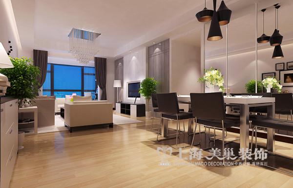 郑州蓝天空港148平新中式装修四房两厅效果图——餐厅全景