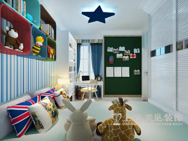 海马公园两居室装修法式样板间74平案例——全景效果图