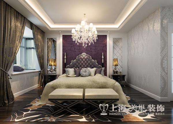 郑州永威东棠装修设计案例效果图赏析简欧风格三室两厅居室户型案例——卧室布局