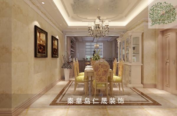 厨房餐厅秉持典型的法式风格搭配原则,餐桌和餐椅表面略带雕花,配合扶手和椅腿的弧形曲度,显得优雅矜贵,而在白色的窗帘、水晶吊灯、瓶插百合花的搭配下, 浪漫清新之感扑面而来。