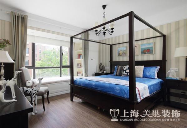 郑州永威翡翠城装修样板间效果图赏析——卧室布局