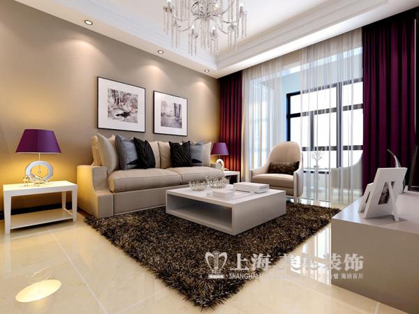 建业贰号城邦89平两室装修现代简约效果图——沙发布局