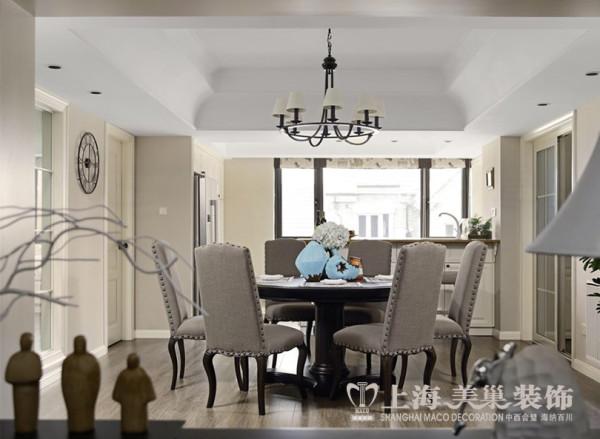 郑州永威翡翠城装修案例三室两厅160平户型设计案例效果图——餐厅设计效果图赏析