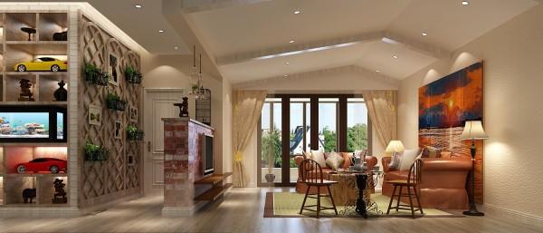 【高清】大气混搭 仁和春天花园 客厅装修设计 高度国际装饰设计