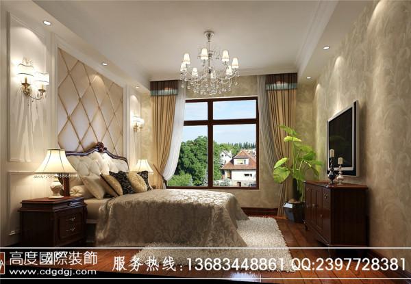 【高清】美式休闲 君汇上品 卧室装修设计 成都高度国际装饰设计