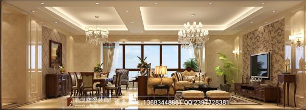 【高清】美式休闲 君汇上品  客厅装修设计 成都高度国际装饰设计