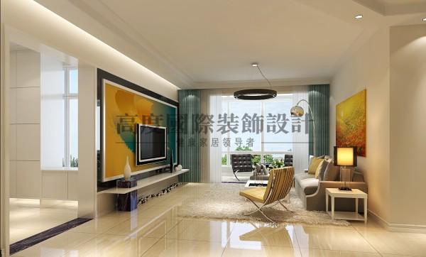 【高清】汇锦城 138㎡ 简约风 客厅装修设计 成都高度国际装饰设计