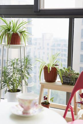 美式 屌丝 小清新 小资 阳台图片来自一号家居网成都站在77㎡清新美式小2居 开放式厨房的分享