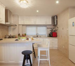 美式 屌丝 小清新 小资 厨房图片来自一号家居网成都站在77㎡清新美式小2居 开放式厨房的分享