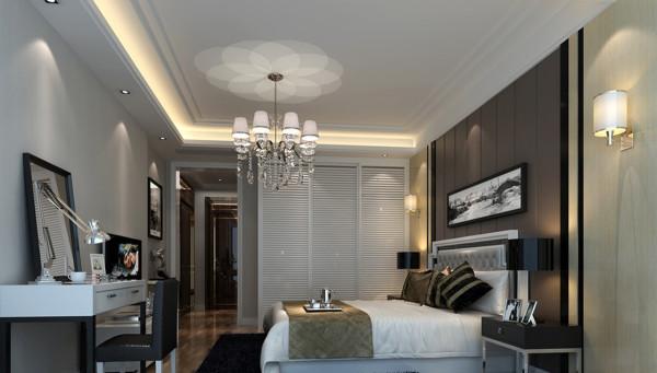 卧室:床头的硬包,卧室的乳胶漆分色,卧室温馨大气