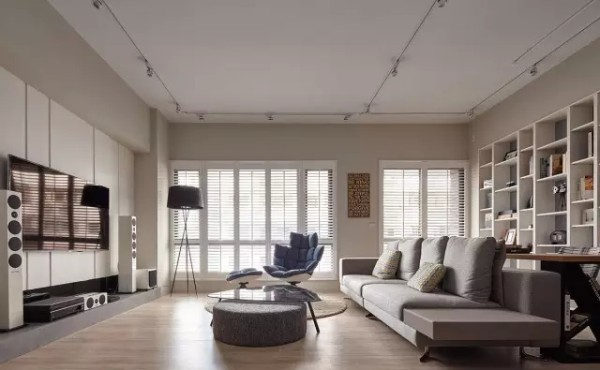 简约 北欧风格 二居 客厅图片来自实创装饰上海公司在99平朴素清新