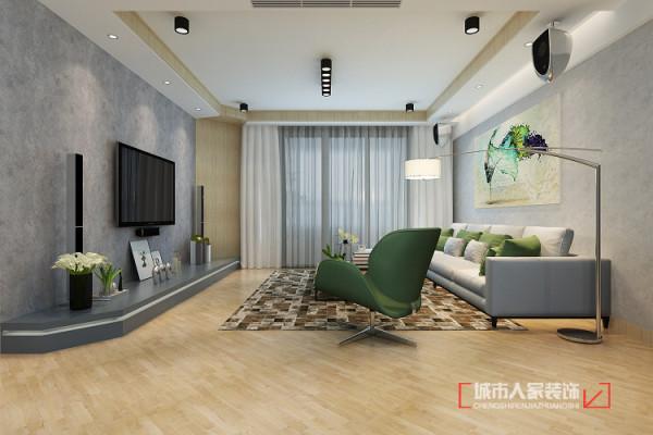 客厅作为整个房子的亮点,我打造成了一个休闲舒适的场所,简单线条 原木的柔情,使整个空间的色调统一没有过多的颜色,浅灰色的点缀,表现主人的严谨。
