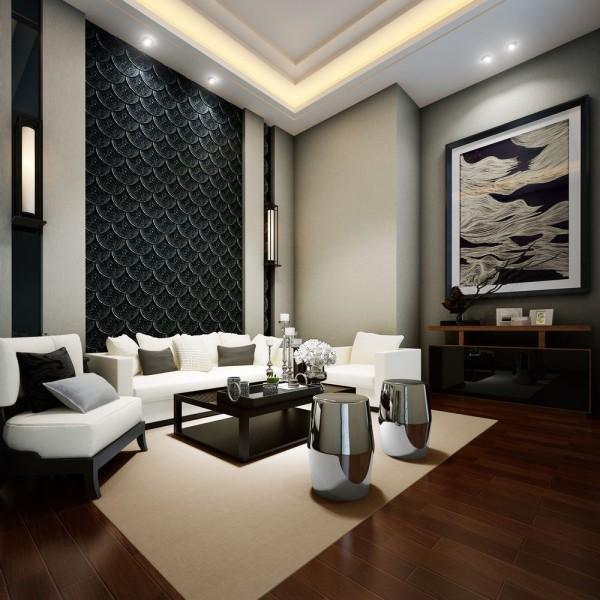 工装办公新中式风格客厅装修效果图片 装修美图 新浪装修家居网看图高清图片
