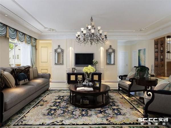 客厅在设计上采用简约处理手法,主要通过后期软装配饰营造气氛,达到现在流行的轻装重饰效果,整体营造沉静带着优雅,内敛持着端庄,意大利进口欧式家具的点缀演绎着一种低调奢华。