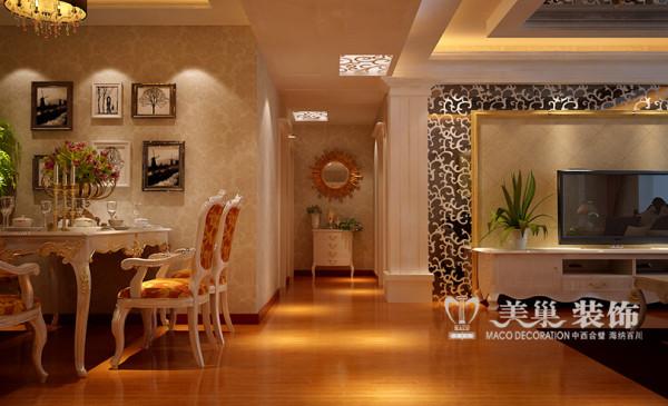 森林半岛装修样板间效果图赏析简欧风格设计——3室2厅户型居室走廊布局
