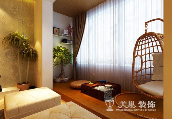 南阳东华新村装修效果图——现代简约风格休闲阳台设计