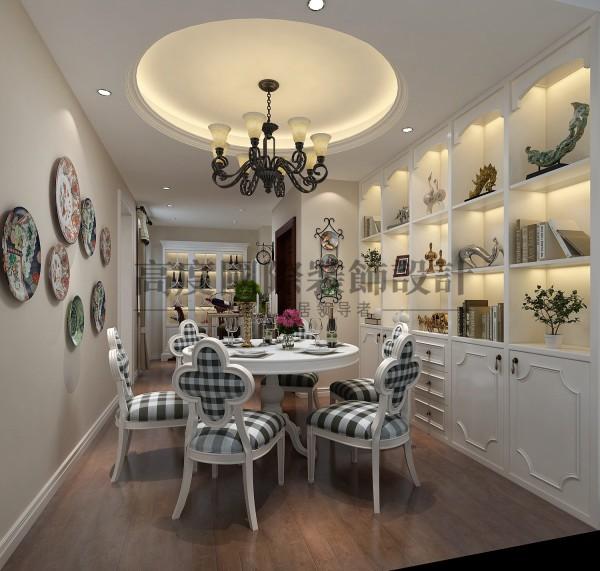 【高清】南湖国际 清新美式 客厅装修效果图 成都高度国际装饰设计
