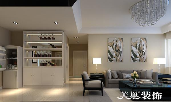 启福尚都装修3室2厅户型案例设计效果图130平居室案例——走廊设计