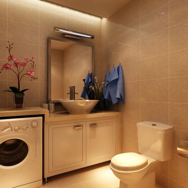 简约三居收纳东唐装饰装修设计卫生间