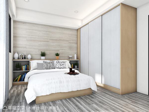 延续公领域的设计手法与配色,并适度的局部留白让屋主生活填满妆点。 (此为3D合成示意图)