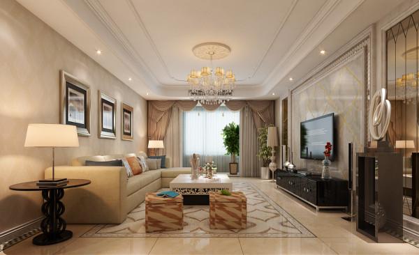 客厅地面拼花中式回字格收边,纯中式古典家具稳重庄严图片