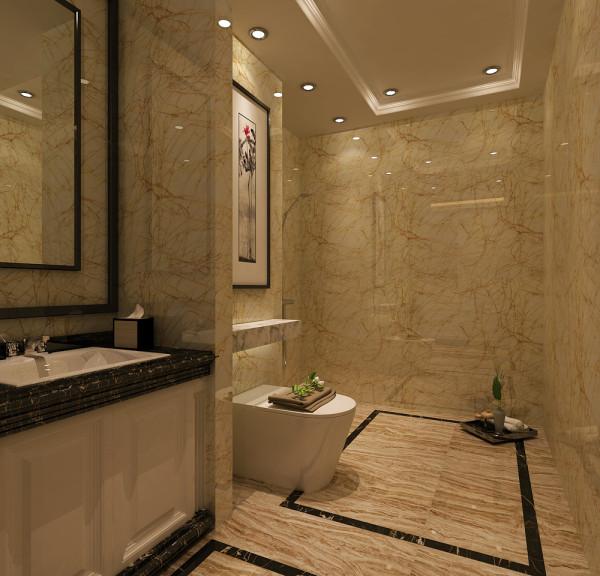 即便在卫浴空间内,也能经常看见古典优雅的身影。典型的古典欧式风格,以华丽的装饰、浓烈的家具色彩,精美的线条造型,将室内升华到雍容华贵的装饰效果。