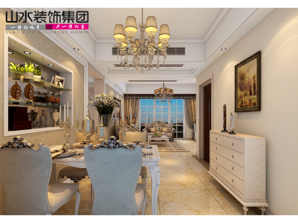 天下锦城109平米装修设计图