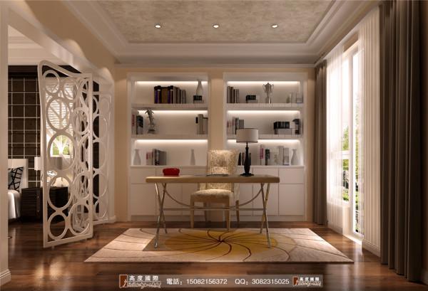 恒大金碧天下地下书房细节效果图---高度国际装饰设计